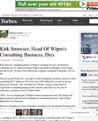 Kirk Strawser Head Of Wipro Consulting Business: Forbes.com